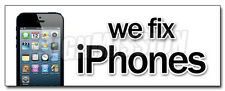 "12"" WE FIX IPHONES DECAL sticker  smart phones cellphones mobile repairs"