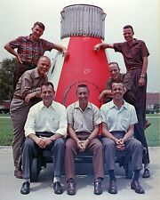 NASA Space Program Original 7 Mercury Astronauts John Glenn + Others Photo