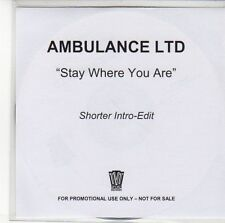 (EE412) Ambulace Ltd, Stay Where You Are - DJ CD