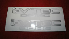 i-VTEC DOHC Decal Sticker for Honda Civic Jazz Fit Accord (Silver color)