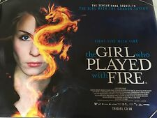 The Girl Who Played With Fire Original Uk Quad Poster