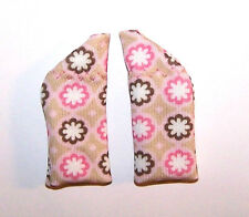 Protective Hearing Aid fabric COVERS for 2 sides regular sz H.A.'s ...PINK BROWN