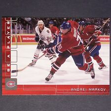ANDREI MARKOV 2001/02 Be A Player 'RUBY' 134/200  #52  Montreal Canadiens single