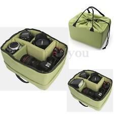 New Waterproof Camera Insert Partition Padded Bag Divider Protect Case Green