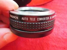 ROKINON AUTO TELE CONVERTER 2X LENS FOR KONICA TC CAMERA WITH CASE