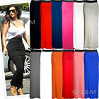 Gypsy Maxi Skirt Plain Long Stretch Gypsy Jersey Dress Plus Size Womens Ladies