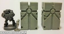 HC3D -NEW- 50mm Runic Pillars 2 pack - Wargames Alien Scenery