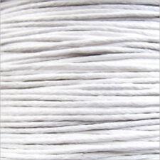 Cordon Coton Ciré 0,8mm – 5 Mètres Blanc pour Colliers et Bracelets de perles