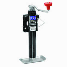 "PRO SERIES ROUND TRAILER JACK 2000 lbs WELD ON TOPWIND SNAP-RING SWIVEL 10"" LIFT"