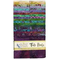 "Island Batik Precut Fabric - Tide Pools - 40-2.5"" Cotton Jelly Roll Strips"