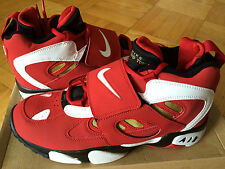 Nike Air Diamond Turf II Varsity Red/White-Metallic Gold-Black 9.5 Deion Sanders