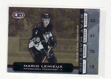 MARIO LEMIEUX PITTSBURGH PENGUINS 2002 HEADS UP STAT MASTERS #14