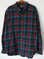 POLO Ralph Lauren PONY Long Sleeve Plaid FLANNEL Shirt ~Men's XL