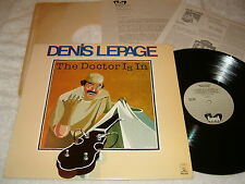"Denis LePage ""The Doctor Is In"" 1978 Bluegrass LP, Nice EX!, w/ Promo Material"