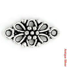 20 ANTIQUE SILVER FILIGREE FLOWER CONNECTOR~16x8mm~Jewellery~Wish Bracelets(70B)