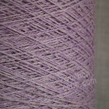 PURE MERINO WOOL 2 3 PLY 500g CONE 10 BALLS LILAC PURPLE YARN HAND MACHINE KNIT