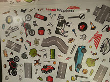 GENUINE HONDA CHILDREN KIDS HONDA MOTORCYCLE CAR ATV BOAT ROAD FUN STICKER SET