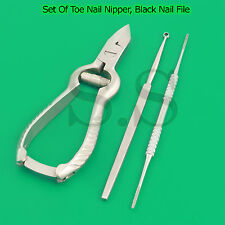 Top Quality Set Of Toe Nail Nipper, Black Nail File, Ear Wax Cleaner New Kit