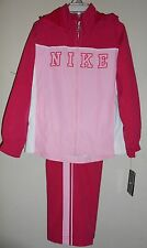 Nike Hooded Girls 2 Pc Windsuit Cherry 6X NWT