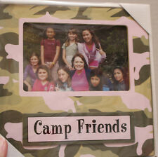 NEW NIB Camp Friends Picture Frame with Pink & Green Camo Scout Design