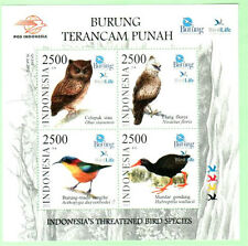 Indonesia 2012 Threatened Bird Species ~ MS mint