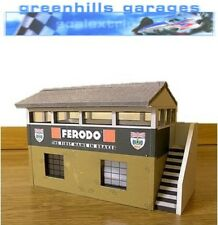 Greenhills Scalextric Slot Car Edificio SILVERSTONE segnatempo Hut KIT 1:32 SCA