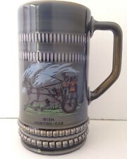 Irish WADE Porcelain Beer Tankard Gray Stout Mug Ales Stein Larger Cup 6 1/2 in.
