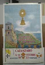 AFFICHE ANCIENNE CATANZARO CALABRE ITALIE CONGRESSO EUCARISTICO CALABRESE 1933