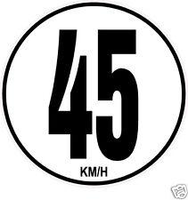 1 Limitation de Vitesse Autocars Tracteur Poids lourd 45KM/H adhésifs