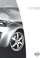 Liste de prix Nissan 350 z 2004 autopreisliste 1.9.04 prix voiture voitures voitures de sport