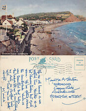 1956 LOOKING EAST SIDMOUTH DEVON COLOUR POSTCARD