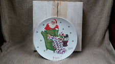 """NORMAN ROCKWELL 1982 """"WAITING FOR SANTA"""" CHRISTMAS PLATE Free Shipping CLEAN"""