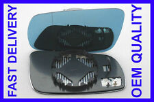 AUDI A6 1994-1999 DOOR WING MIRROR GLASS BLUE TINTED BLIND SPOT HEAT LEFT