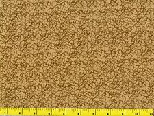 Medium Tan Blender w/ Squiggles Quilting Fabric by Yard  #2140