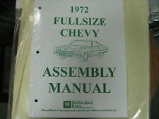 1972 FULLSIZE CHEVY CAPRICE, IMPALA, BELAIR, BISC. (ALL MODELS) ASSEMBLY MANUAL