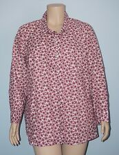 Catherines NWT 3x 26/28w Antique Bicycle Bike Roll-Tab Slv Button Down Shirt Top