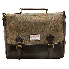 The British Bag Company - Verde Cuadros Harris Tweed Hunter Bandolera