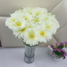 2 Pcs DIY Fake Silk Gerbera Daisy Flowers Home Wedding Garden Floral Decoration