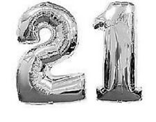 Number 21 Silver Balloons 21st Birthday Party Anniversary Foil Decoration Gift