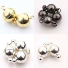 Lots 5/10 Sets White K/Gun Black/Silver/Gold Plated Round Metal Magnetic Clasps