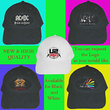 Hat Cap AC/DC U2 Queen Pink Floyd band
