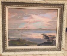 Vintage  Artist Betty Doyle Campbell Douglaston NY Oil Painting Seascape