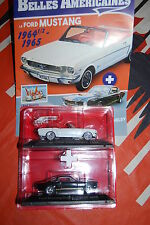 FORD MUSTANG CONVERTIBLE 1964 + CHELBY GT 350H SERIE TEST HACHETTE SCALE 1/43