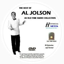 BEST OF AL JOLSON - 86 Shows - Old Time Radio In MP3 Format OTR On 1 DVD