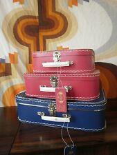 Puppen Koffer Anna & Clara GRENE blue NOS 60s TRUE VINTAGE 70er danmark 35x23x10