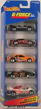 1996 Hot Wheels - G-FORCE STUNT SET - 5 CAR GIFT PACK - Great for Playsets! 1:64