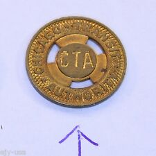 Rare 16mm Bronze Cta Chicago Transit Authority Surface Token (Not 150-Ab)