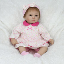 Realistic Handmade Lifelike Baby Girl Doll Soft Vinyl Reborn Dolls With Clothes