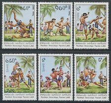 LAOS N°382/387** Boxe Lao TB, 1982 Laotian Wrestling SC#361-366 MNH