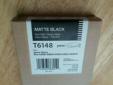 07-2013 NIB GENUINE EPSON T6148 MATTE BLACK K3 INK 220ml STYLUS PRO 4800 4880